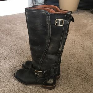 Lucky Brand Distressed Knee High Boot